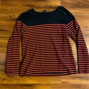 Banana Republic Sweater, Navy With Red Stripes.